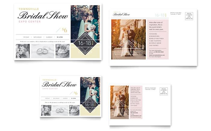 bridal show postcard template design we0020201