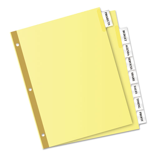 8 Large Tab Insertable Dividers Template Insertable Big Tab Dividers 8 Tab Letter
