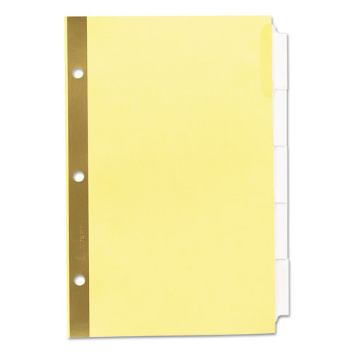 insertable standard tab dividers 5 tab 8 12 x 5 12 ave11102