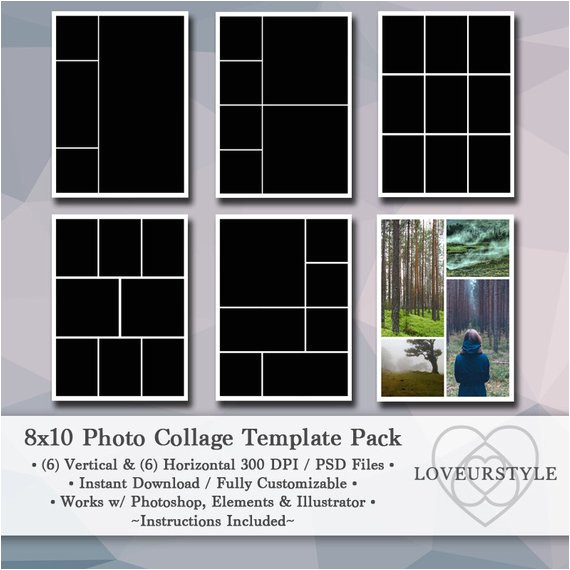 8x10 digital photo template pack photo