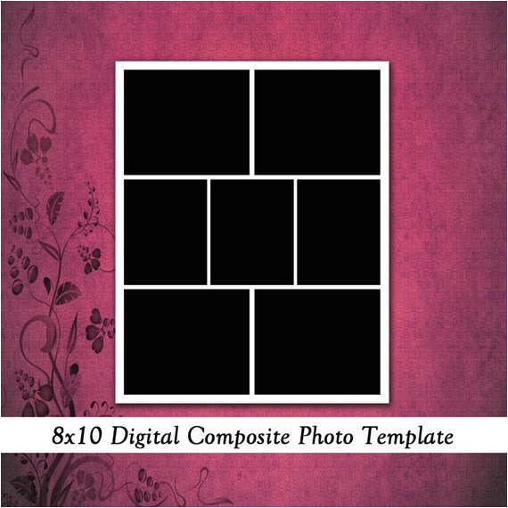 8x10 digital photo template photo