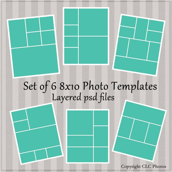 8×10 Photo Collage Template 8×10 Marketing Photo Template Collage Story Board Layered Psd