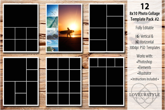446485 8x10 photo collage template pack 2