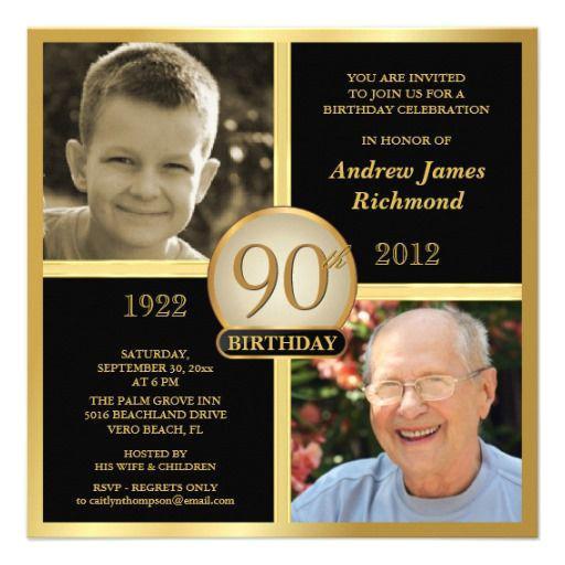 90 Birthday Invitation Templates 15 90th Birthday Invitations Tips Sample Templates