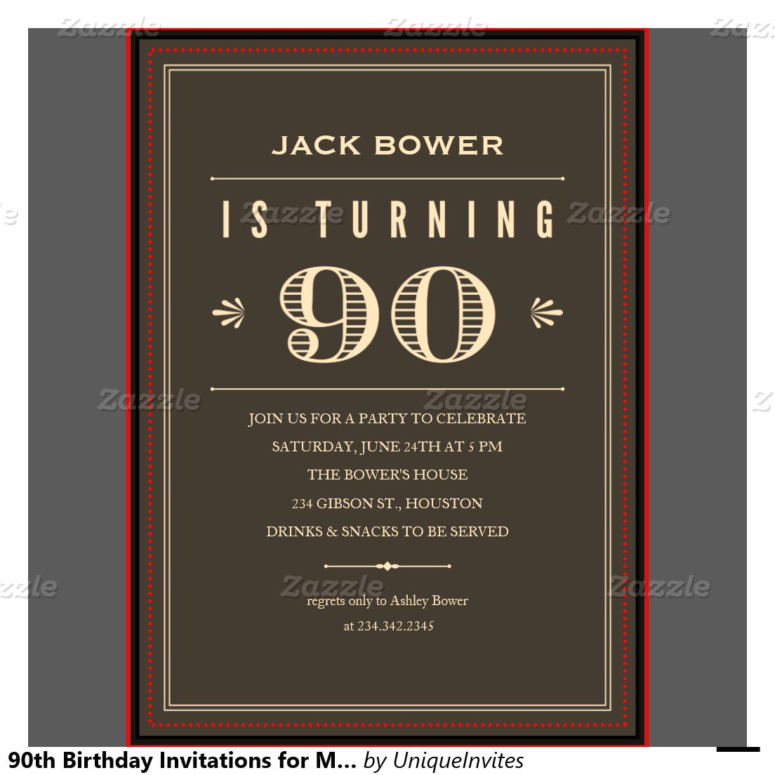 90th birthday invitations free