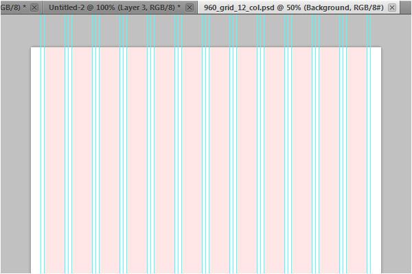 using the 960 grid system as a design framework webdesign 2036