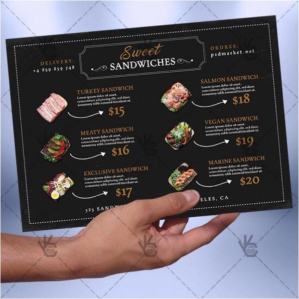 cafe menu a5 free menu psdai template