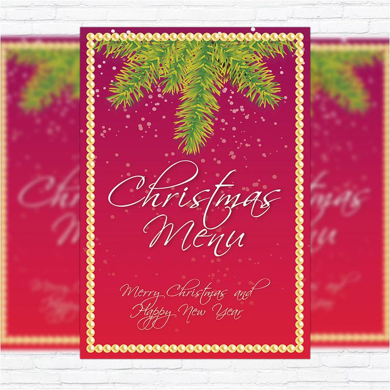 christmas menu vol 2 premium a5 menu template
