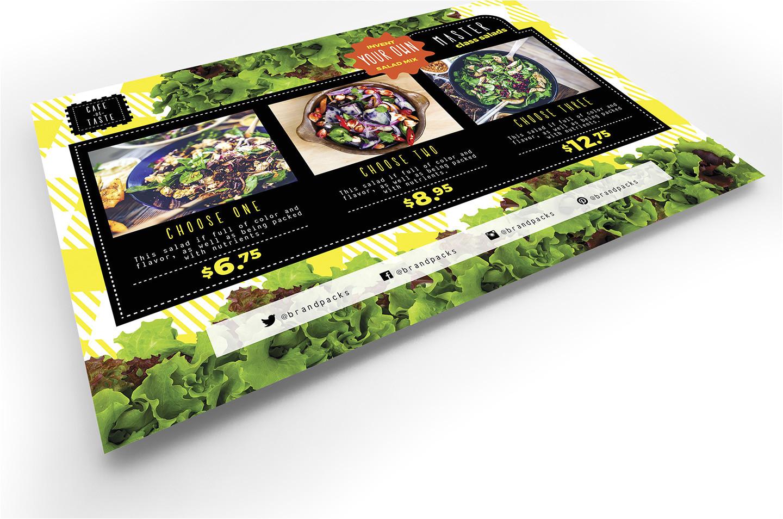 A5 Menu Template Salad Menu Flyer Template In Psd Ai Vector Brandpacks