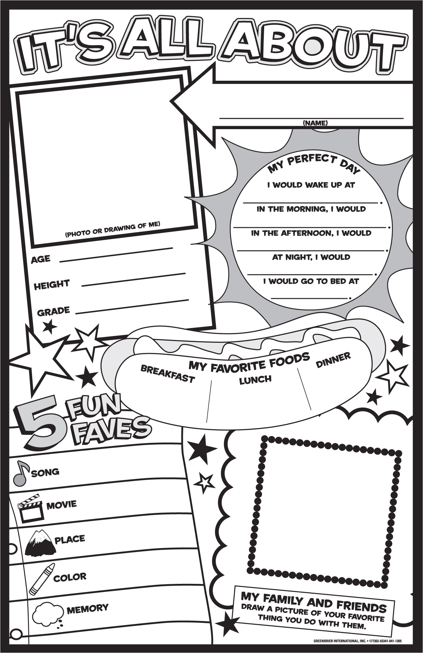 post free printable all about me posters 31591