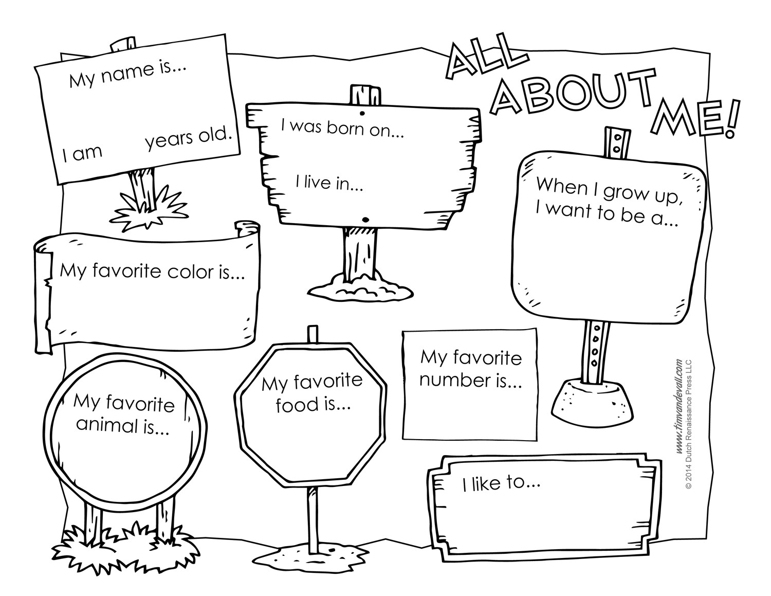 all about me worksheet 3