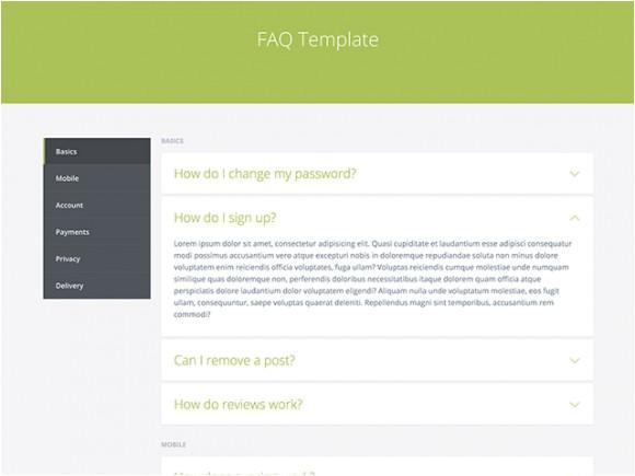 faq template html