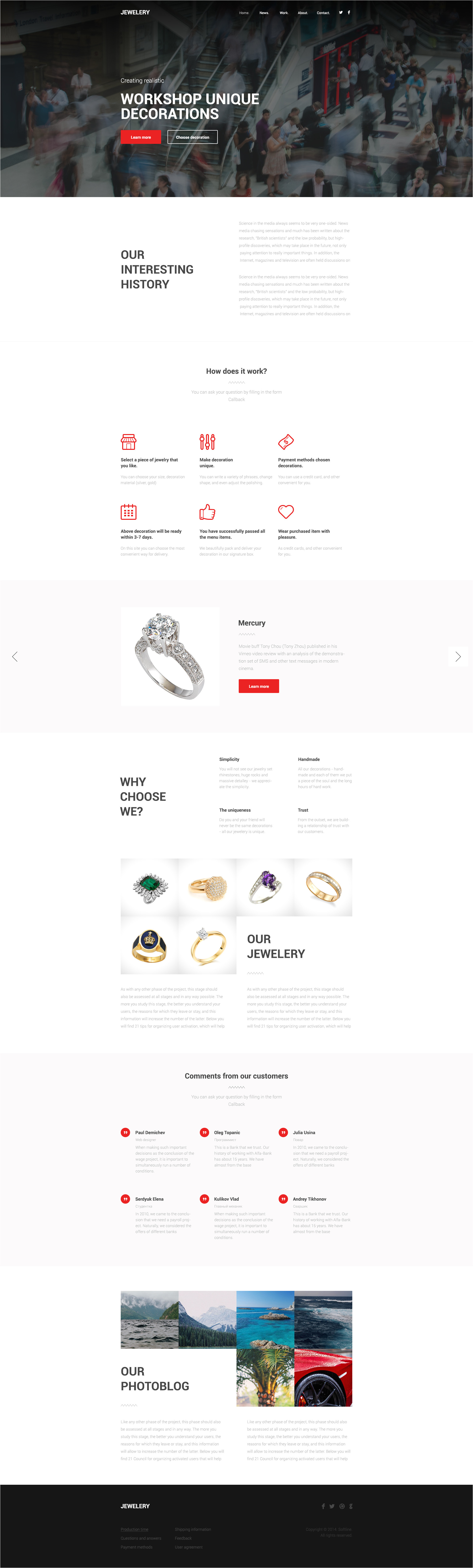 jewelery one page html template