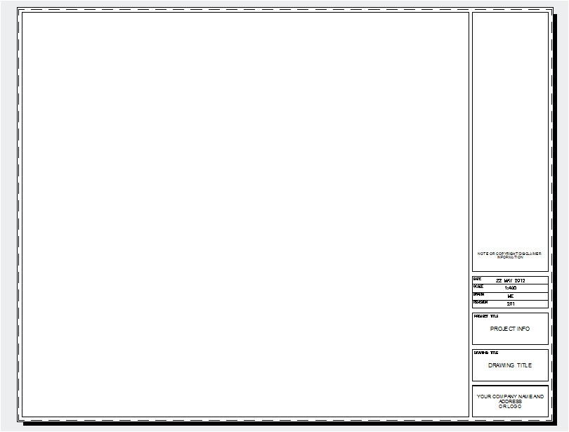 Acad Template Free Autocad Title Blocks Cad Intentions