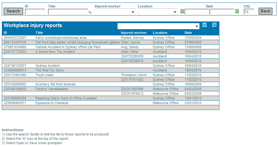 download ohs reporting template free software
