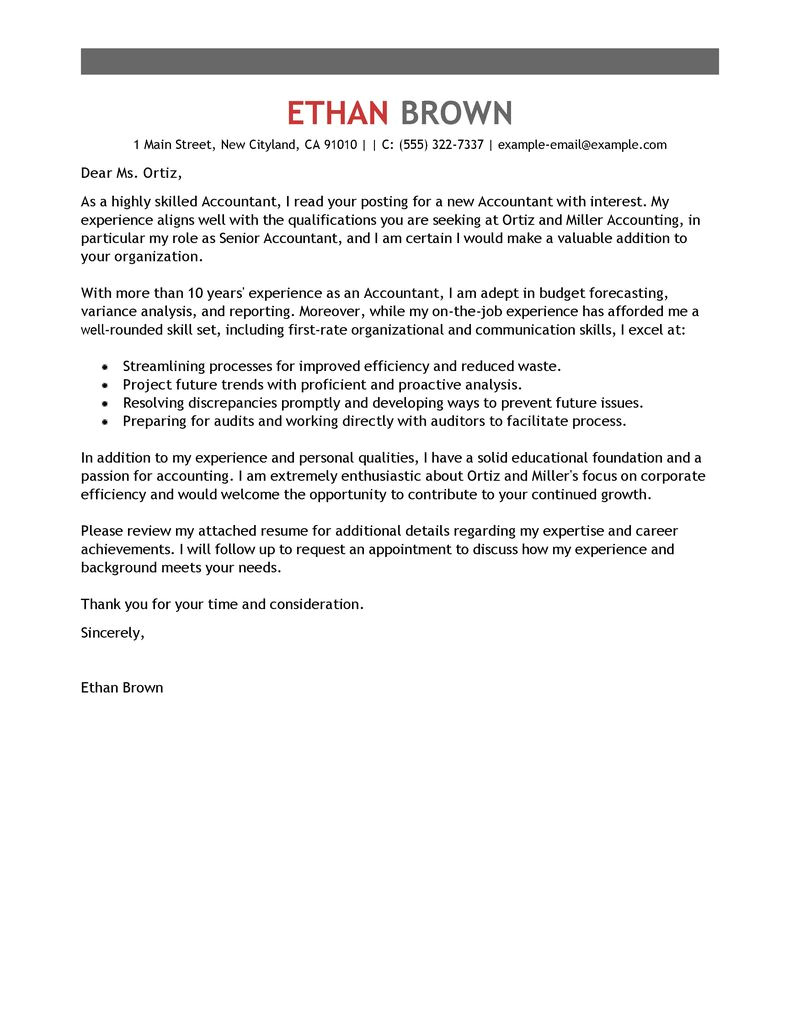 Accounting and Finance Cover Letter Examples Leading Professional Accounting assistant Cover Letter