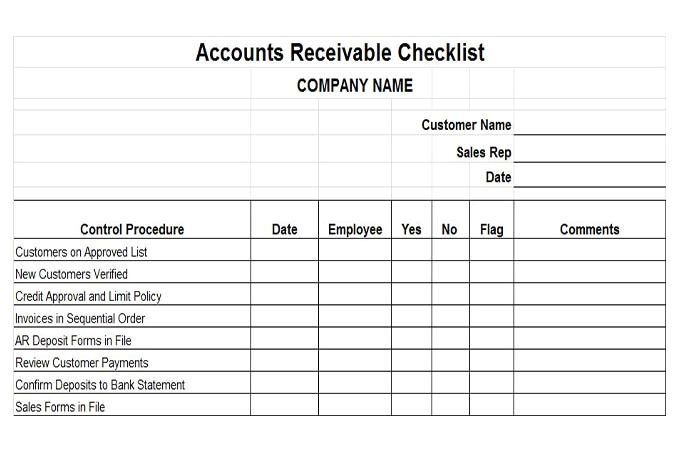 Accounts Receivable forms Templates Accounts Receivable Controls Vitalics