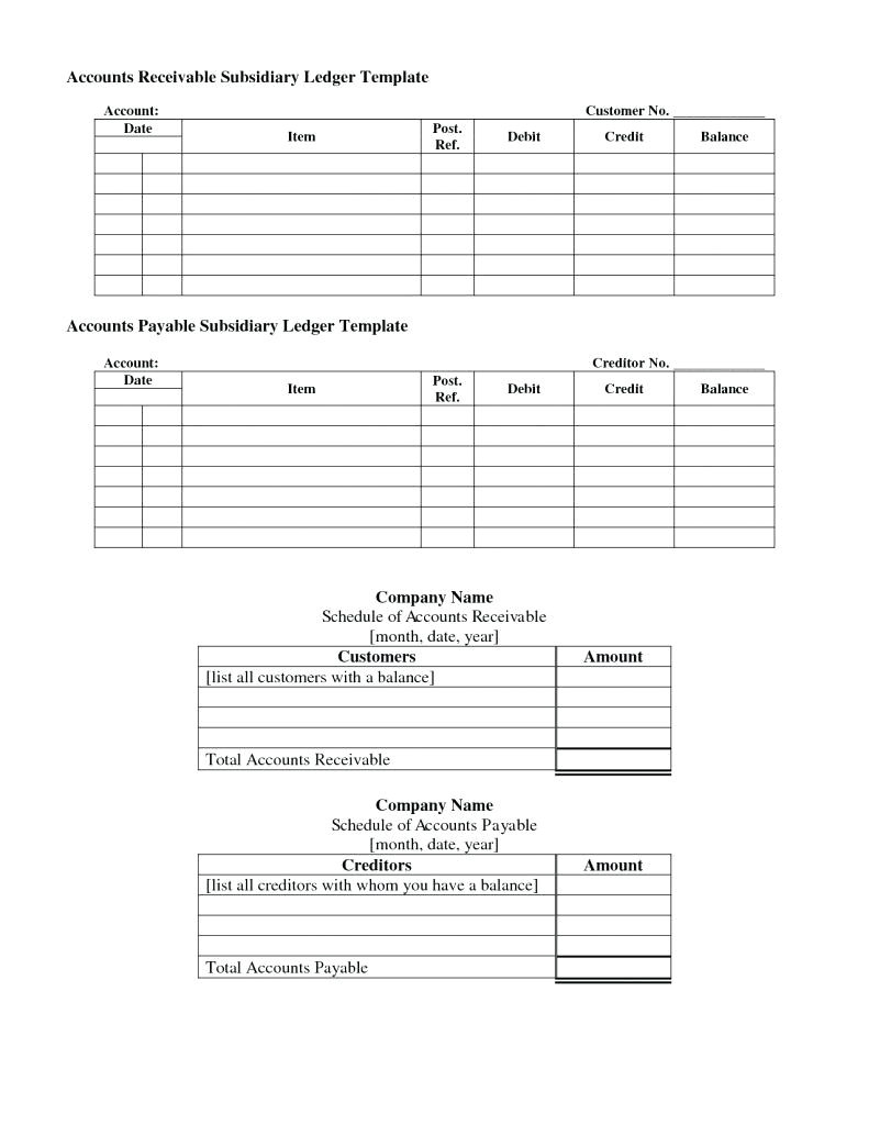 Accounts Receivable forms Templates Template Accounts Payable Template