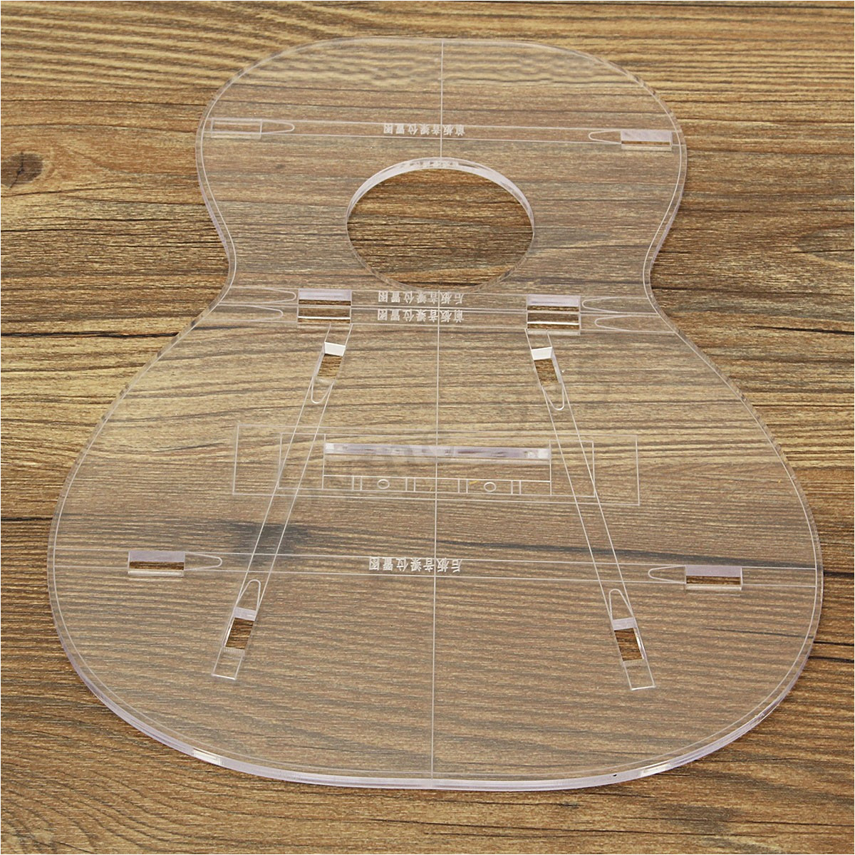 Acrylic Guitar Templates Clear Acrylic Guitar Body Part Template for 23 39 39 Ukulele