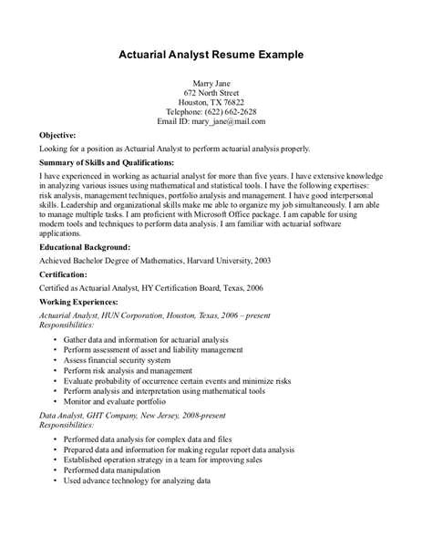 actuarial cover letter