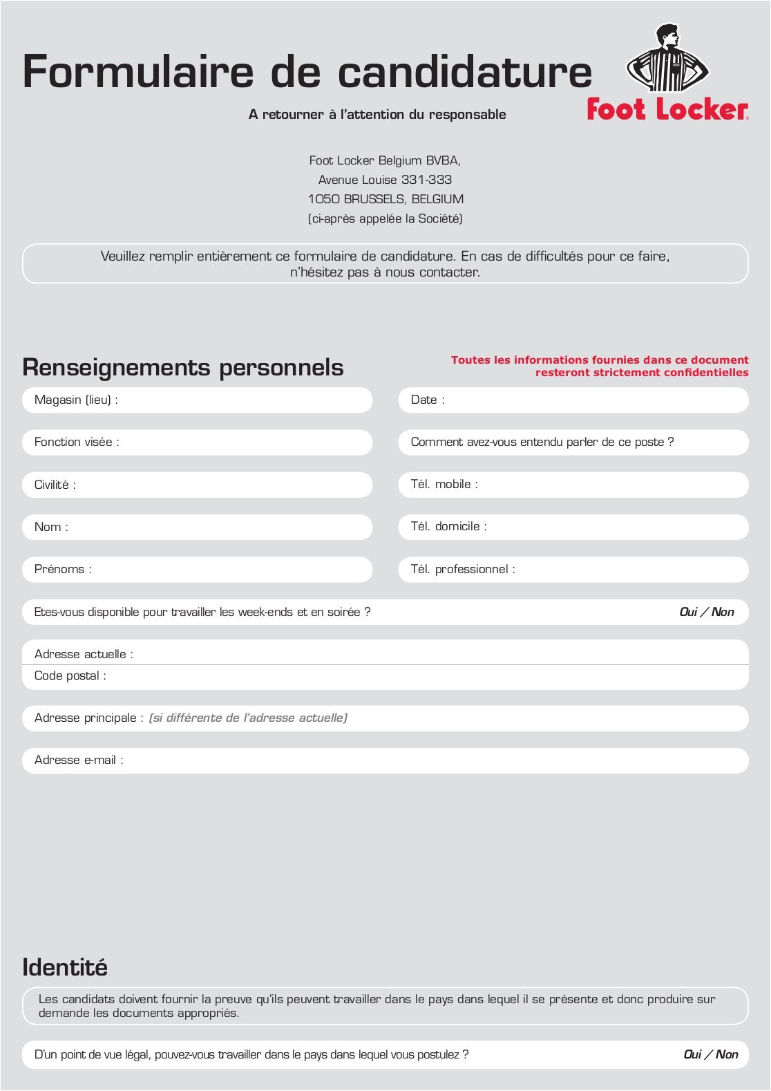 foot locker receipt template