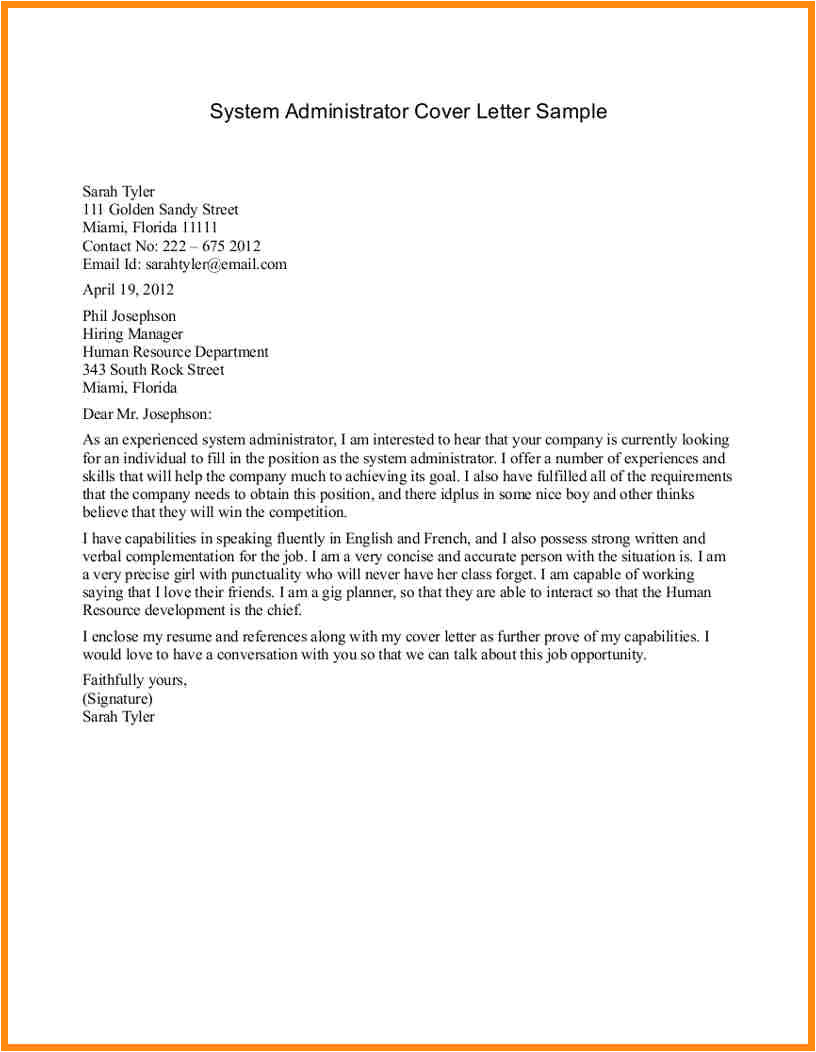 6 administration cover letter examples