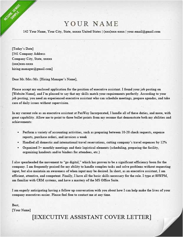 Adminstrative assistant Cover Letter Administrative assistant Executive assistant Cover