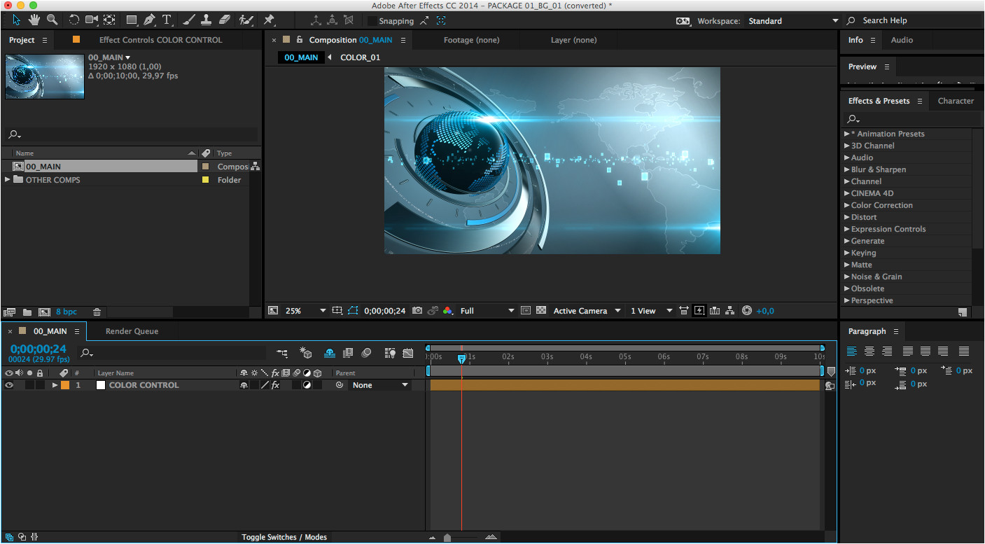adobe after effects free templates projects