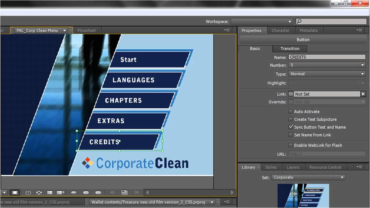 Adobe Encore Dvd Menu Templates Free Download Adobe Encore Basics 2 Creating Menus Youtube