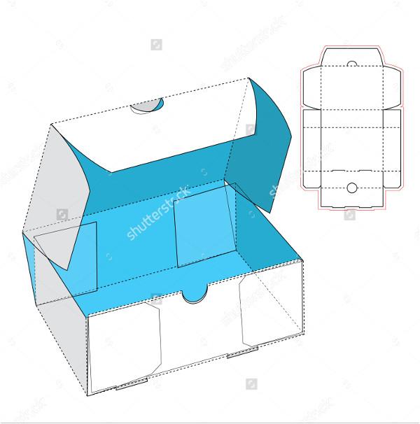 clamshell box template illustrator