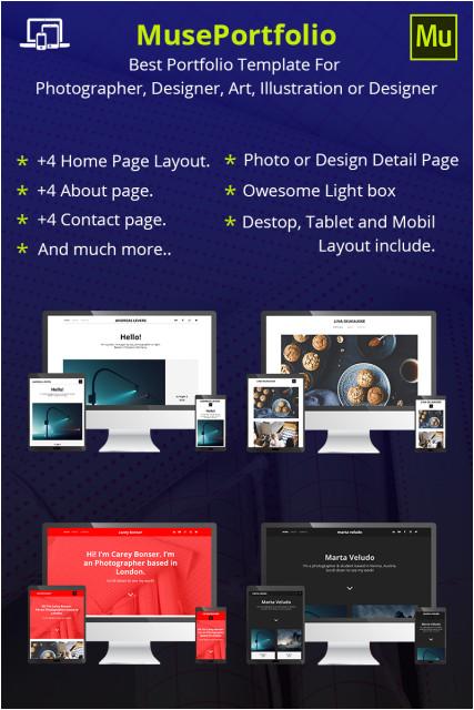 designer portfolio adobe muse cc 2017 template