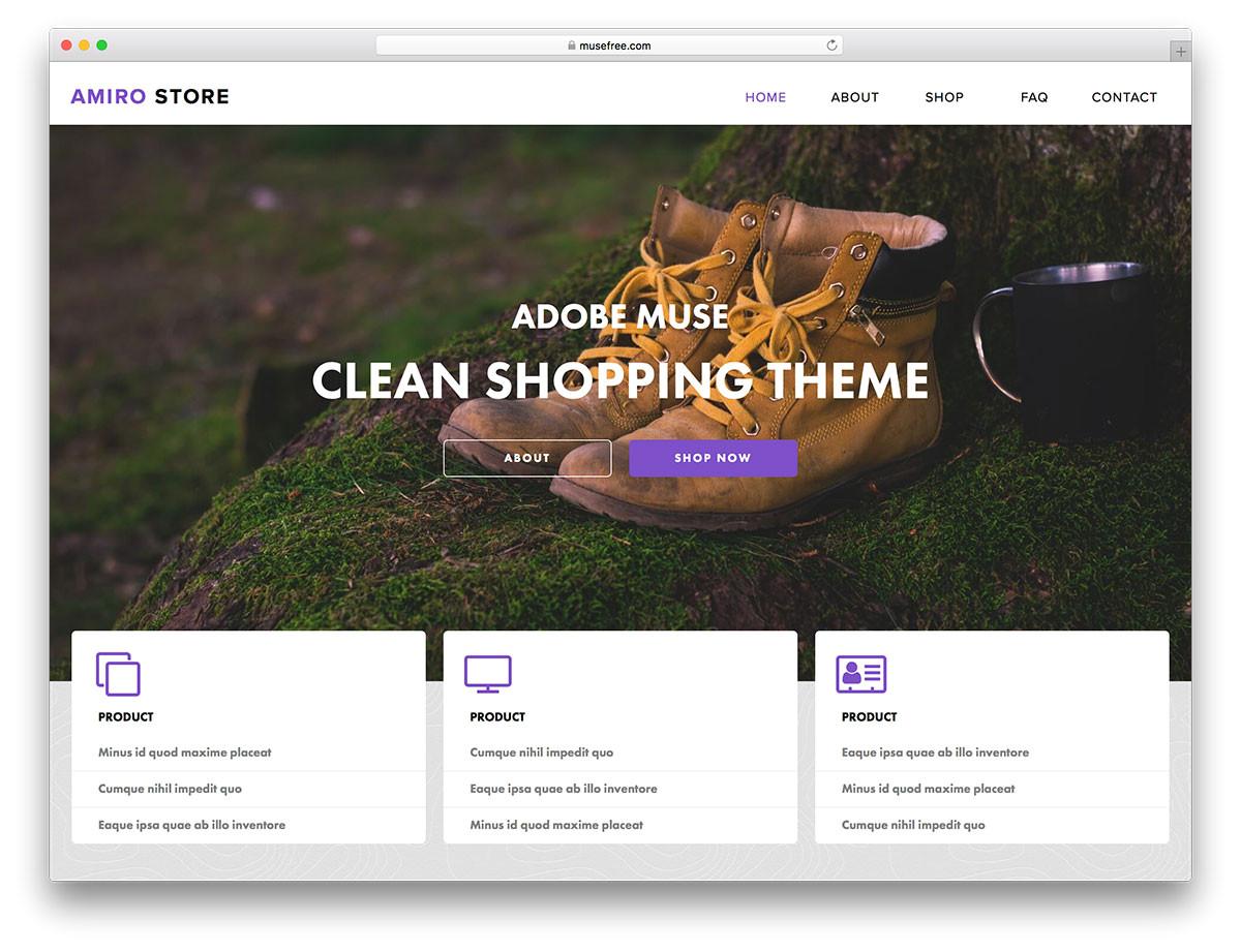 Adobe Muse Mobile Templates 16 Free Adobe Muse Templates themes 2018 Colorlib