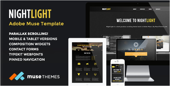 best responsive adobe muse themes 2014