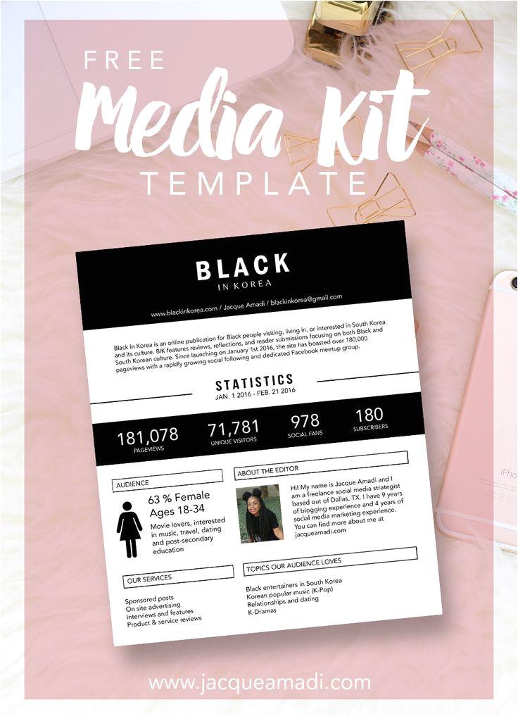 blogging media kit