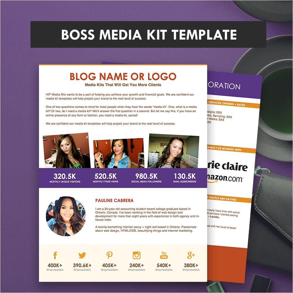 boss media kit template ad rate sheet