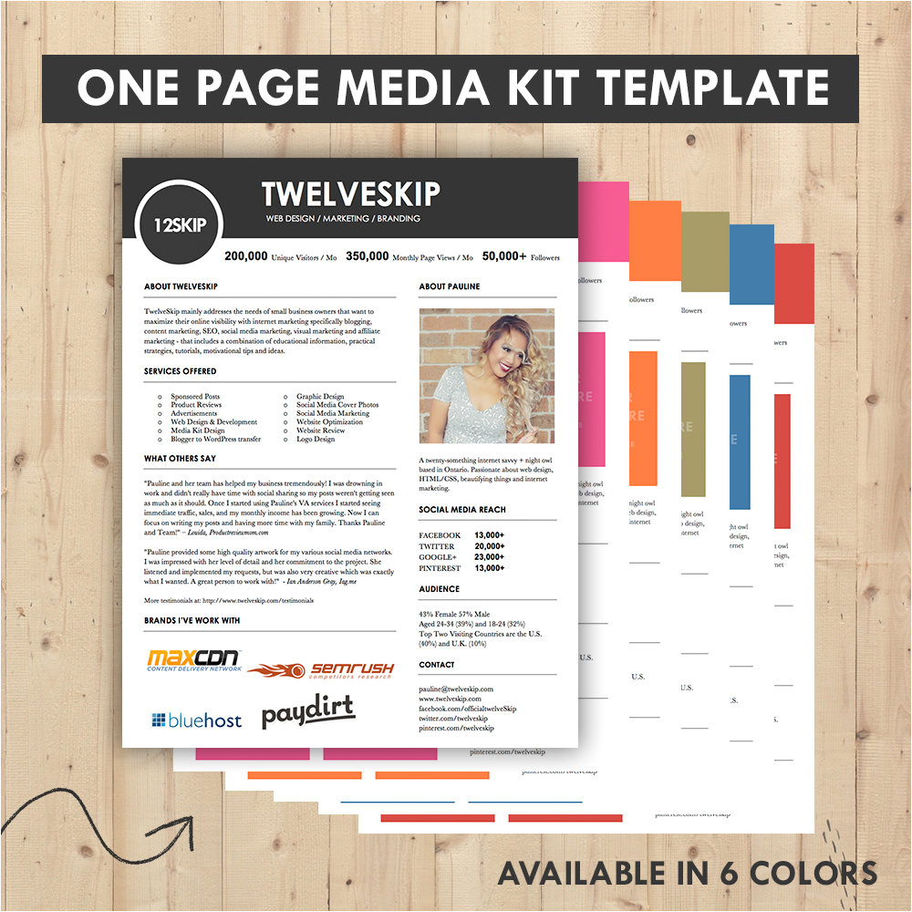 Advertising Media Kit Template Media Kit Press Kit Templates Easy to Edit Clean High
