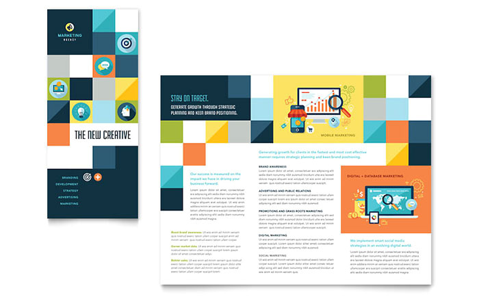 advertising company tri fold brochure template design pn0272301