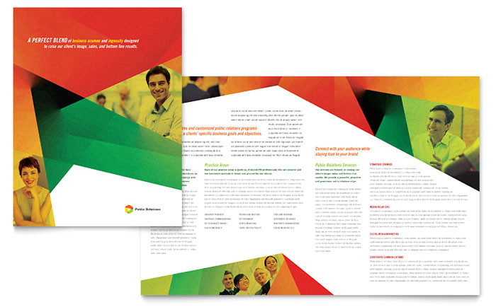public relations company brochure template design pn0130101