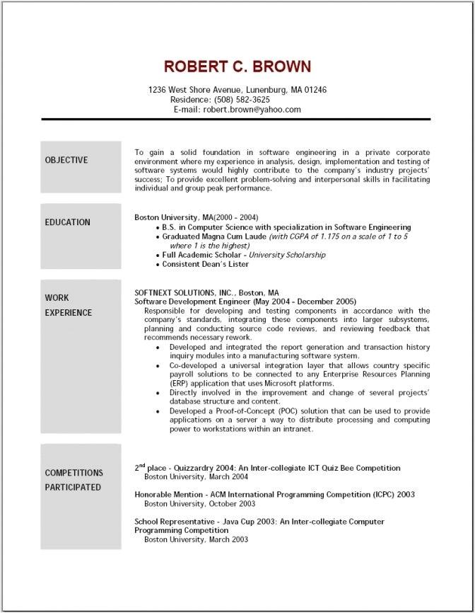 sample esthetician resume