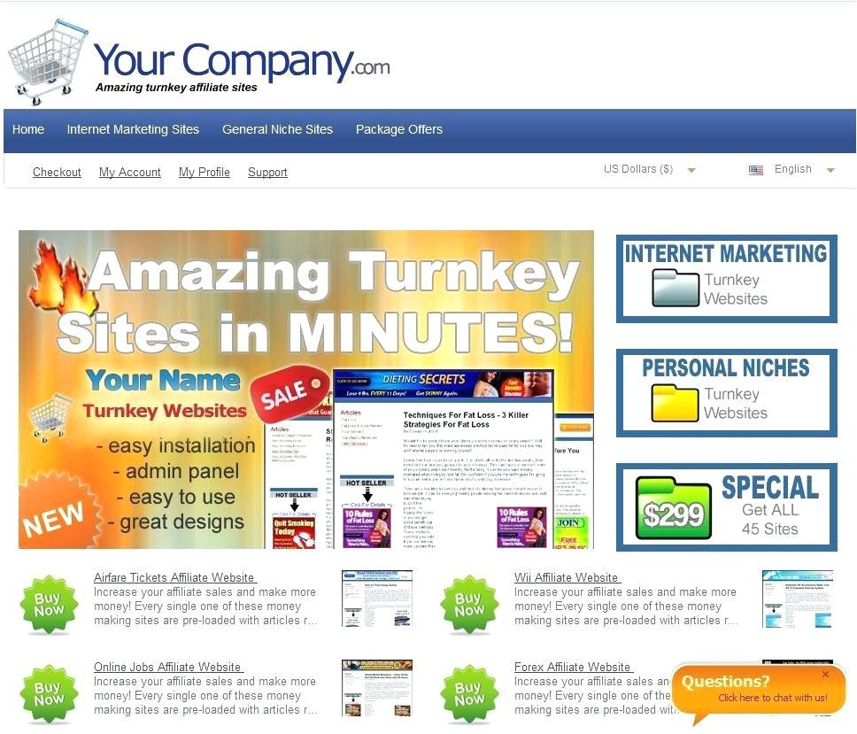 affiliate website template