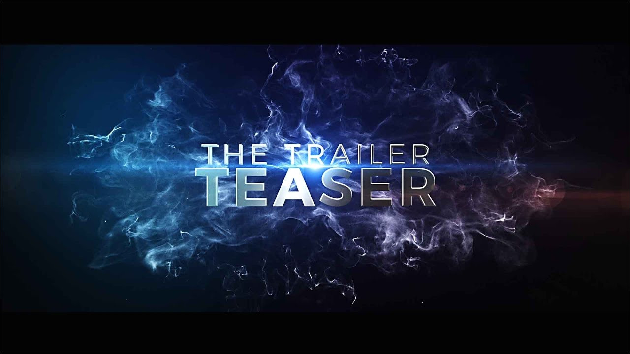 After Affects Templates after Effects Template the Cinematic Trailer Teaser