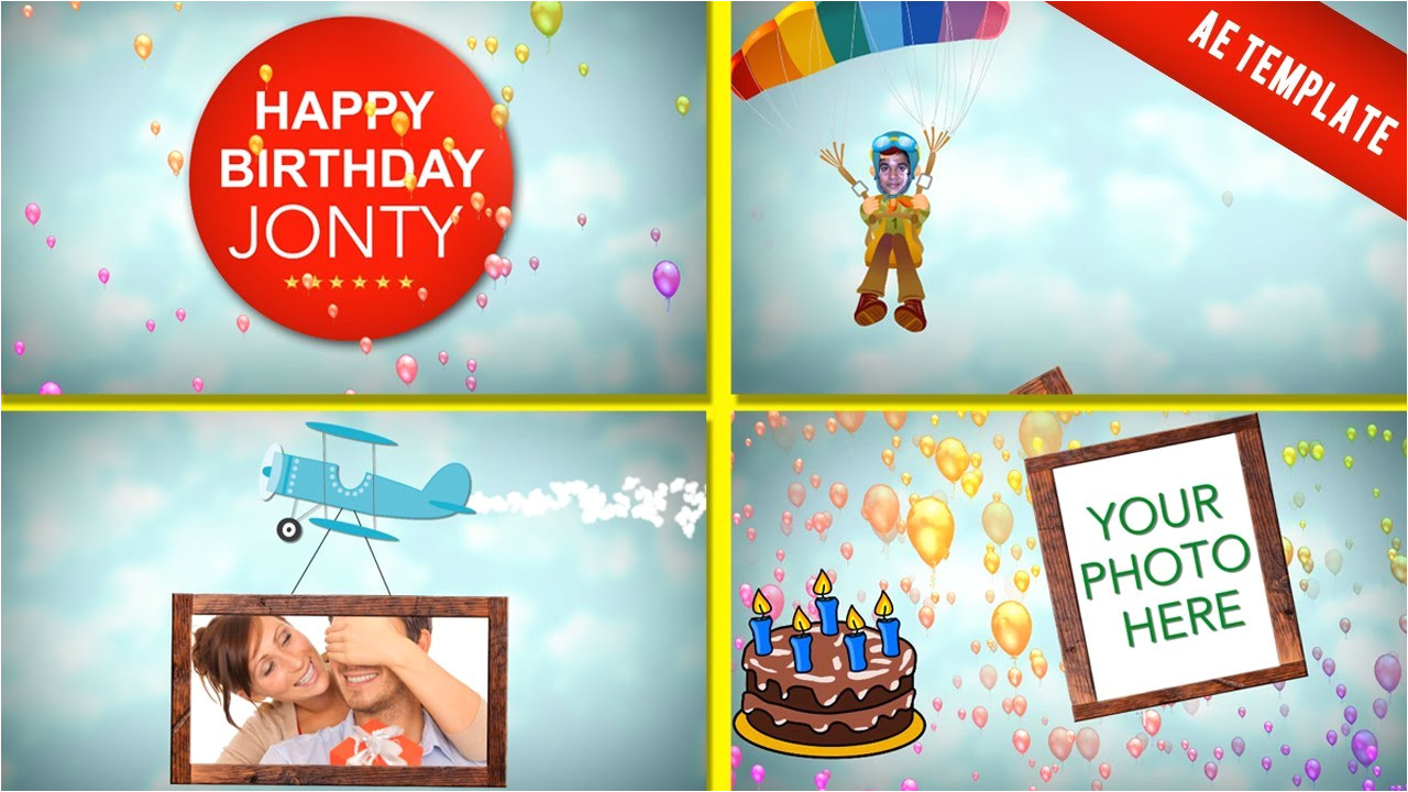 After Effect Birthday Template after Effect Birthday Template Birthday Template Youtube