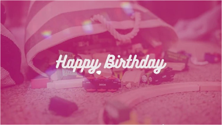 After Effect Birthday Template Happy Birthday Opener after Effects Templates Motion Array