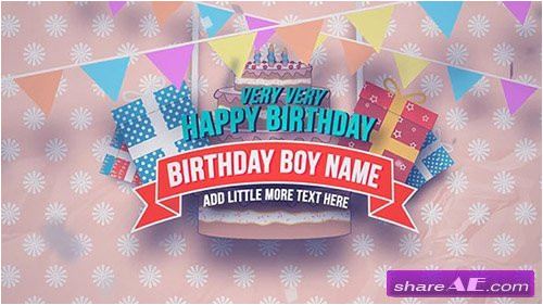8247 happy birthday slideshow after effects project motion array