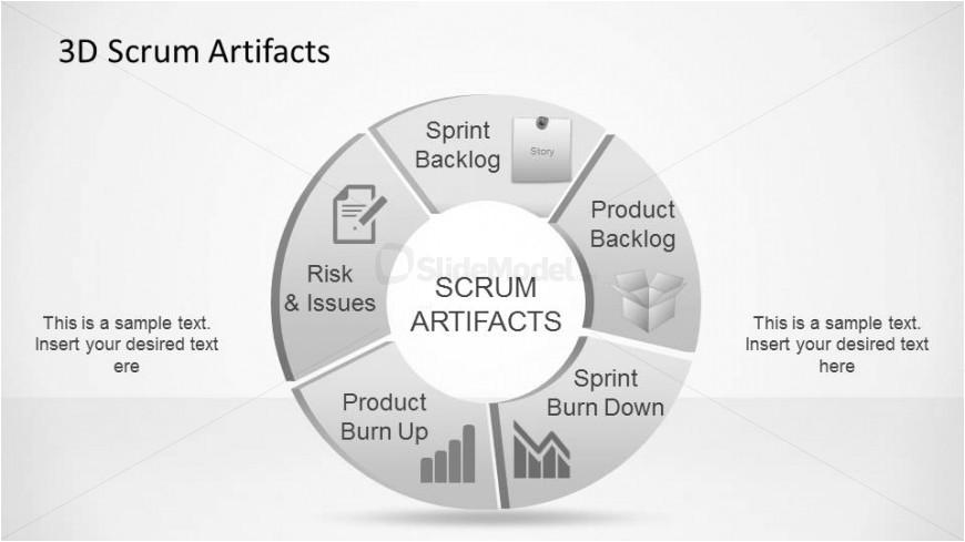 Agile Artifacts Templates 3d Agile Scrum Artifacts Powerpoint Diagram Slidemodel