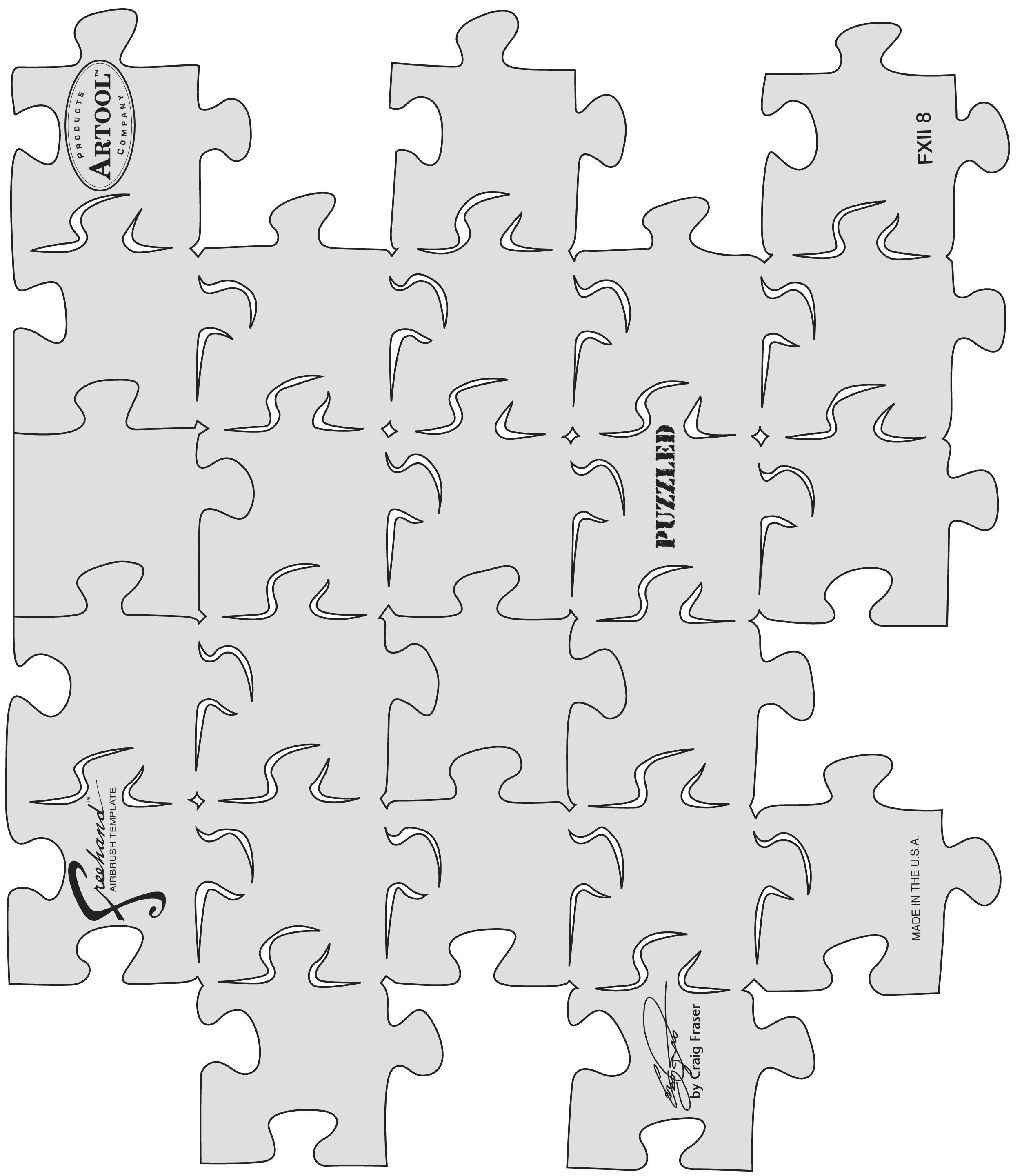 Air Brush Templates Kustom Fx Ii Puzzled Airbrush Templateanest Iwata