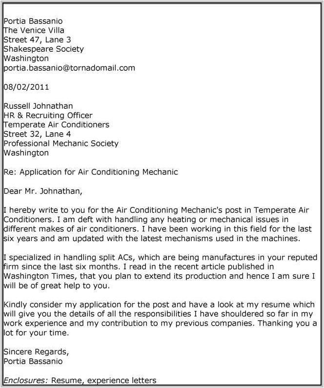 sample resume cover letter for technician 4656