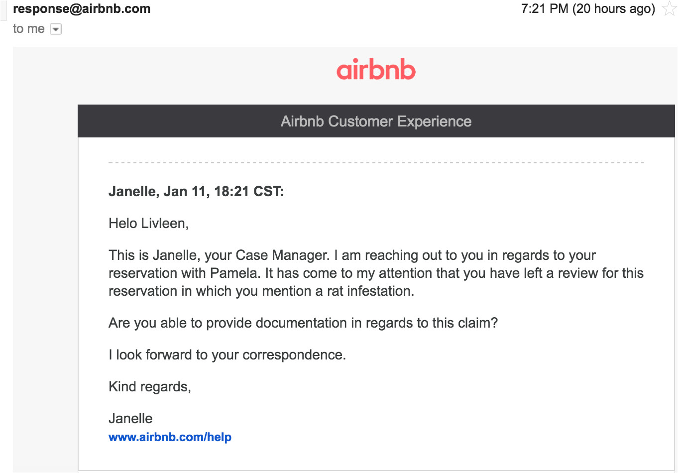 airbnb cover letter