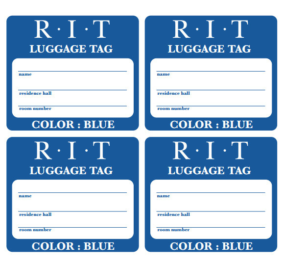 12 useful luggage tag templates for you