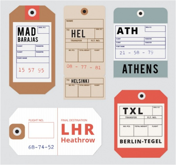 Airline Luggage Tag Template 21 Luggage Tag Designs Psd Vector Eps Jpg Download